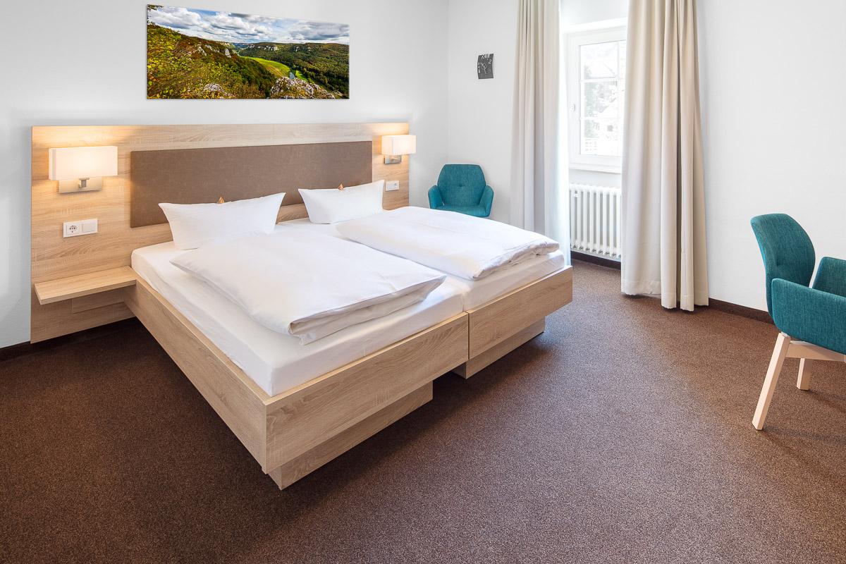 Doppelzimmer Komfort im Hotel Pelikan in Beuron